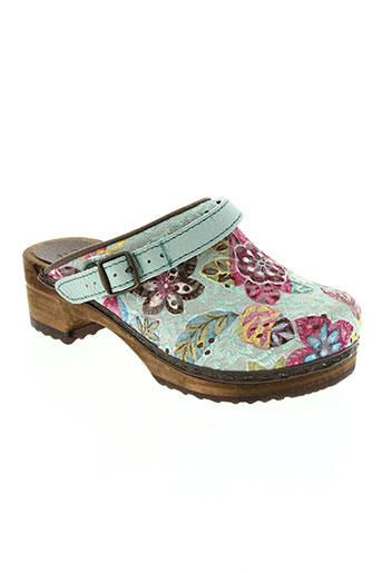sanita chaussures fille de couleur bleu