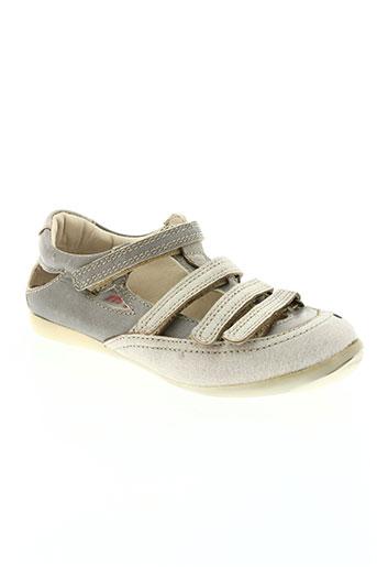 telyoh chaussures fille de couleur gris