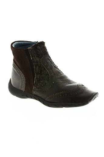 qui courait dans l'herbe... chaussures garçon de couleur marron