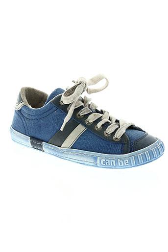 can be chaussures garçon de couleur bleu