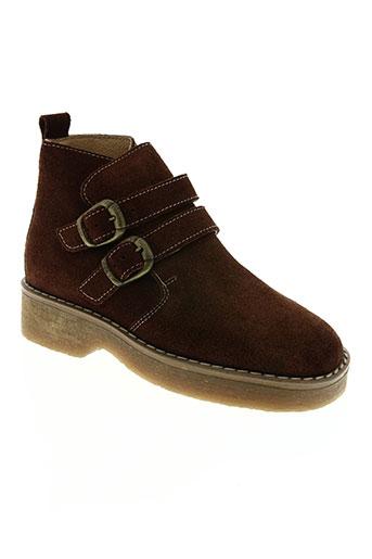 stabifoot chaussures garçon de couleur marron