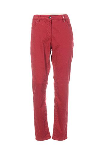 Pantalon casual rouge BX pour femme