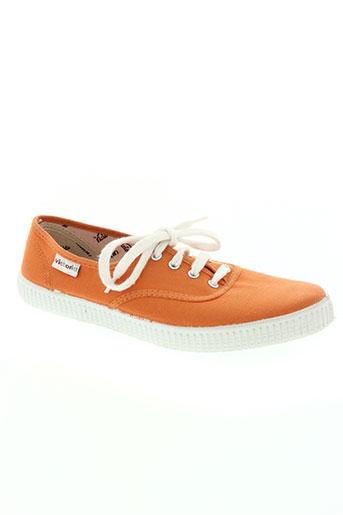 victoria chaussures homme de couleur orange