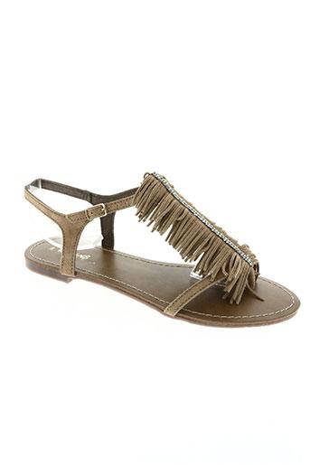 reqins chaussures fille de couleur marron