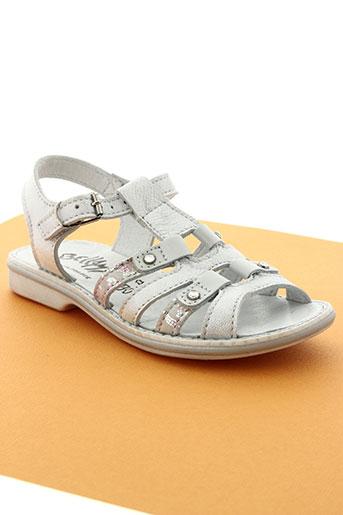 bellamy chaussures fille de couleur blanc