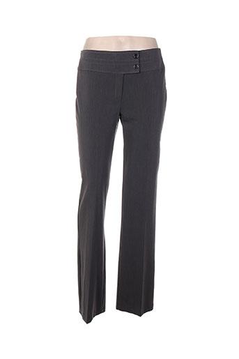 renato bene pantalons femme de couleur gris