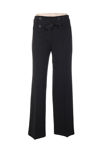 renatto bene pantalons femme de couleur noir