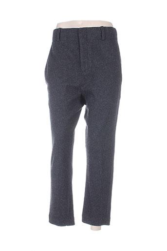 and less pantalons femme de couleur gris