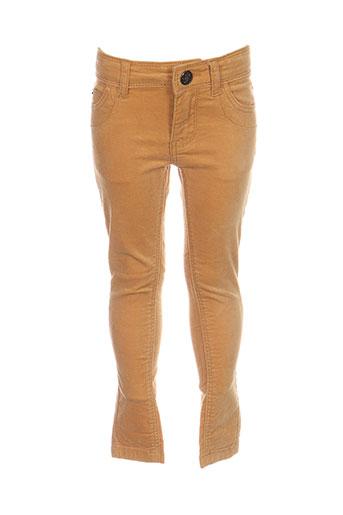 ikks pantalons garçon de couleur jaune