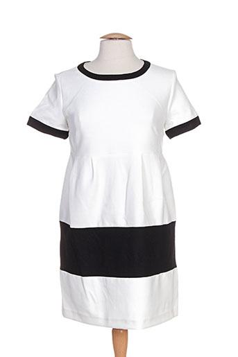 Robe courte blanc ELLA LUNA pour femme