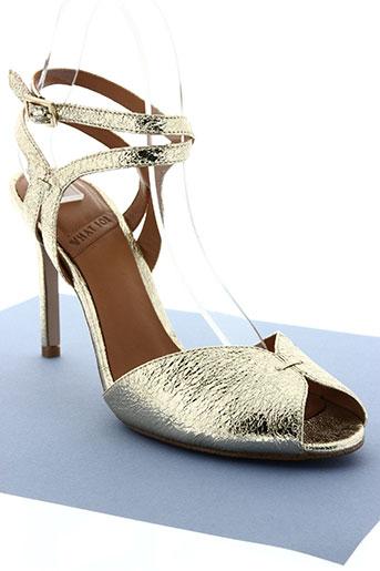 what for chaussures femme de couleur jaune