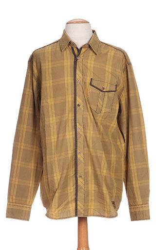 monte carlo chemises homme de couleur jaune