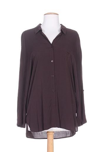 high chemises femme de couleur violet