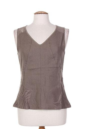 maloka chemises femme de couleur marron