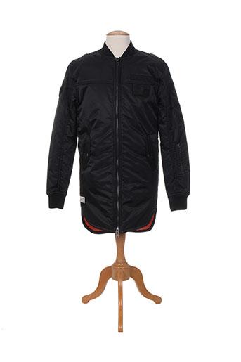 woangle manteaux homme de couleur noir