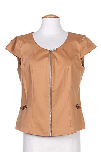 melvin vestes femme de couleur marron