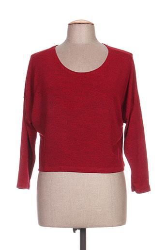 timono chemises femme de couleur rouge