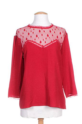 sweewë chemises femme de couleur rouge