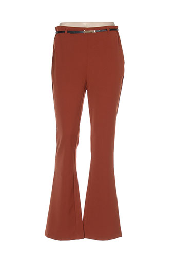 jus d'orange pantalons femme de couleur marron