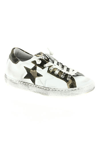 star chaussures femme de couleur blanc