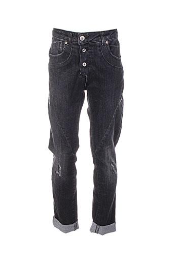 please jeans fille de couleur noir