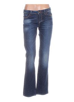 Jeans coupe droite bleu GURU pour femme