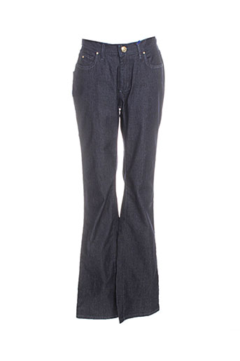 trussardi jeans pantalons femme de couleur bleu