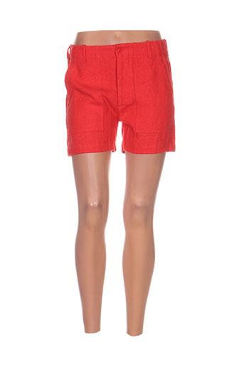 laurence dolige shorts / bermudas femme de couleur rouge