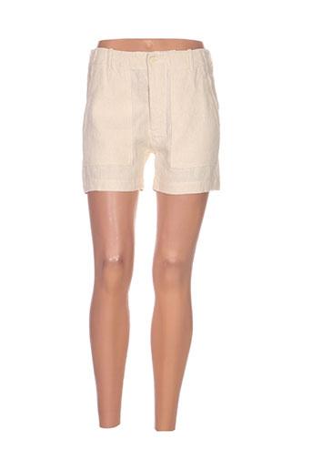 laurence dolige shorts / bermudas femme de couleur beige