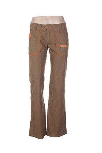55 dsl pantalons femme de couleur marron
