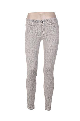 Pantalon casual gris CURRENTE/ELLIOTT pour femme