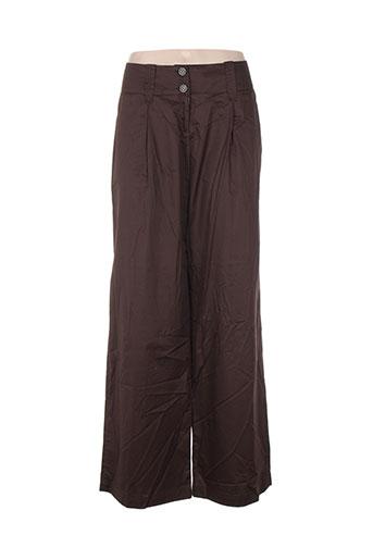Pantalon casual marron CARACTERE pour femme