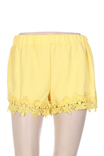 cherry koko shorts / bermudas femme de couleur jaune