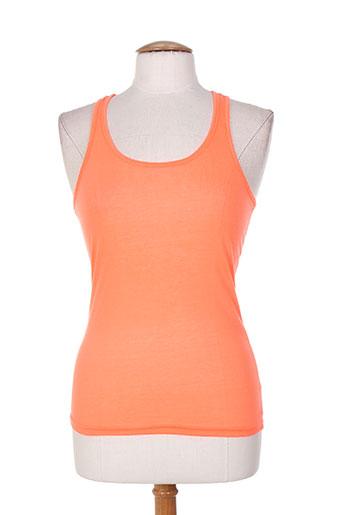 eylex t-shirts femme de couleur orange
