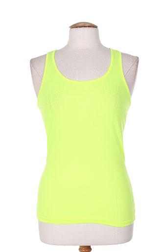 eylex t-shirts femme de couleur jaune
