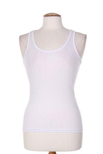 eylex t-shirts femme de couleur blanc