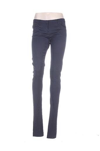 ilaria nistri pantalons femme de couleur bleu