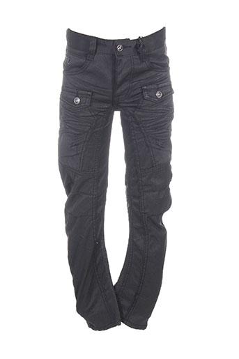 rb7 pantalons garçon de couleur noir