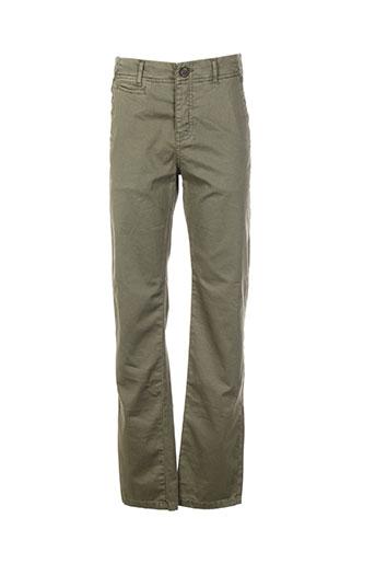 biaggio pantalons garçon de couleur vert