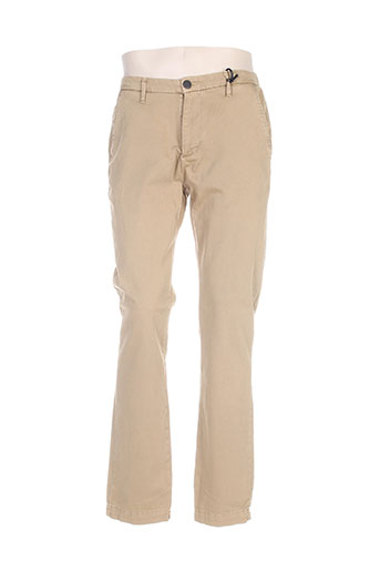freegun pantalons homme de couleur beige