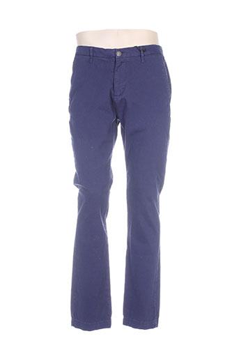 freegun pantalons homme de couleur bleu
