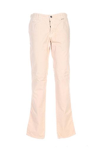 Pantalon casual beige BILL TORNADE pour homme