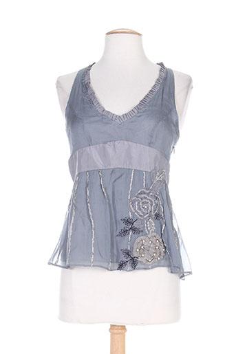 caractere chemises femme de couleur gris
