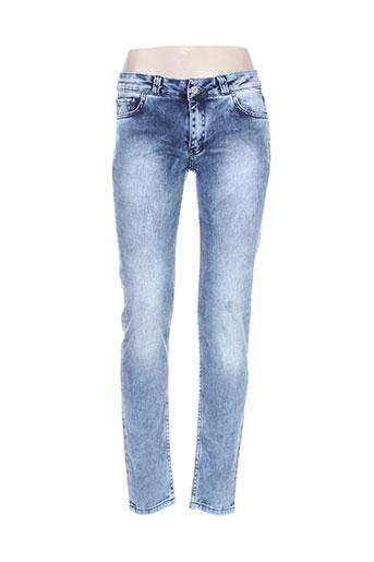 christian audigier jeans femme de couleur bleu
