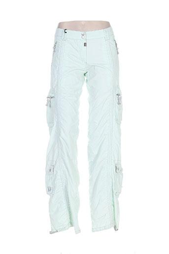 timezone pantalons femme de couleur vert