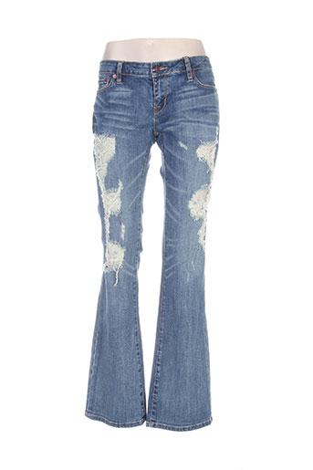 Jeans bootcut bleu ED HARDY pour femme