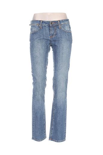 Jeans coupe slim bleu ED HARDY pour femme
