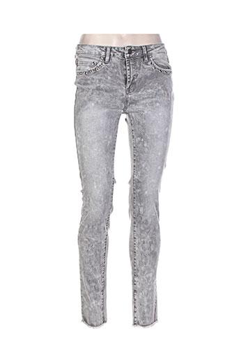 esqualo jeans femme de couleur gris