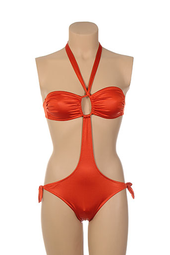 acqua et sale maillots de bain femme de couleur orange