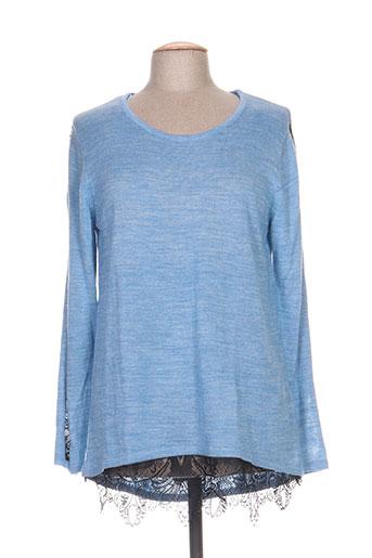 aprico pulls femme de couleur bleu